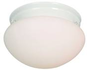 1 Light White Mushroom Indoor Ceiling Fixture