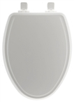 Elongated Molded Wooden Toilet Seat, White