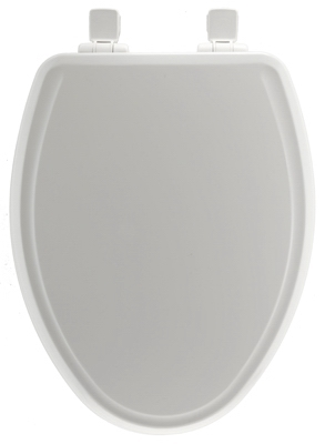 Shop Elongated Molded Wooden Toilet Seat White At Mccoy S