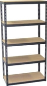 30W x 15D x 60H  Metal/ Wood Shelving Unit