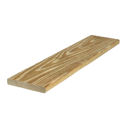 "5/4x6-16' (Actual: 1-1/8""x5-1/2"") Standard Treated Pine Radius Edge Decking"