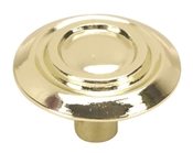 "1 1/4"" Scroll Cabinet Knob - Bright Brass"