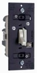 Compact Fluorescent Light/LED Toggle Dimmer, Almond