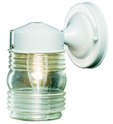 Jelly Jar Outdoor Wall Fixture, White