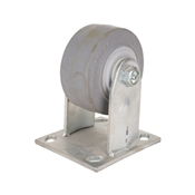 Prosource JC-T01 Rigid Caster, 4 in Dia x 2 in W Wheel, 350 lb Weight Capacity, Thermoplastic Rubber Wheel