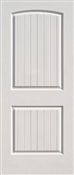 1668 2 Panel Plank Cheyenne Smooth Prehung Door Left Hand