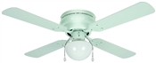 "Aegean 42"" Flush Mount Ceiling Fan - White With Light Kit"