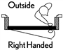 2868 Flush Steel Prehung Double Bored Door Right Hand