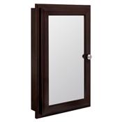 "16"" Swing Door Medicine Cabinet in Java Finish"