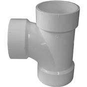 """3"""" PVC-DWV Sanitary Tee (HubxHubxHub)"""