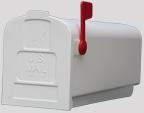 WHITE POLY RURAL MAILBOX