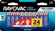 Rayovac 815-24LTK AA Batteries, 24 Pack
