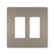 Two-Gang Screwless Wall Plate, Nickel