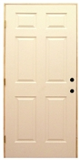 2868 6 Panel Insulated Steel Prehung Door Left Hand