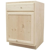 "24"" Unfinished Pine Base Cabinet"