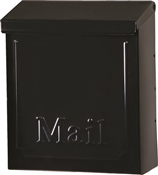Gibraltar Mailboxes Townhouse THVKB001 Mailbox, 260 cu-in Capacity, Steel, Powder-Coated