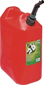 Scepter 05086 Gas Can with CRC, 5.3 gal Capacity, Polyethylene, Red