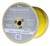 "1/4"" X 1200' Twisted Poly Rope, Yellow"
