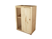 "24"" Unfinished Pine Blind Wall Cabinet"