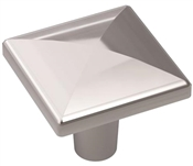 1-1/8 in (29 mm) Length Knob - Polished Chrome