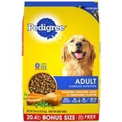 Pedigree Chicken, Rice & Vegetable Flavor Dog Food, 20.4 Lb