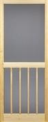 """Vertical Bar Solid Wood Screen Door, 2'8"""" x 6'8"""""""