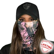 Forest Camo Pink Face Shield