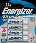 Energizer Cylindrical, Electronic, Non-Rechargeable Lithium Battery, AA Battery 4PK