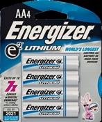 Energizer L91BP-4 Non-Rechargeable AA Lithium Battery