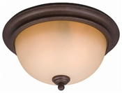 2 Light Antique Bronze Flush Indoor Ceiling Fixture