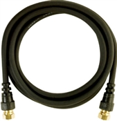 6' Coaxial Cable Black with F Connector