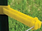 "Back Side T-Post Extender Insulator 5"" Yellow - 25 Pack"
