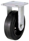 "6"" Mold On Rubber Wheel Rigid Plate Caster"