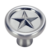 Texas Star Cabinet Knob - Satin Nickel