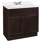 "30"" Java Vanity With White Cultured Marble Top"