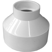 "4""x2"" PVC-DWV Reducing Coupling (HubxHub)"