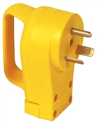 Yellow 30 Amp Replacement Power Cord Plug