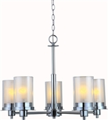 Avalon 5 Light Chandelier, Chorme Finish