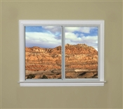 2010 300 Insulated Low-E Obscure Glass 1x1 Bronze Horizontal Sliding Window