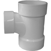 "4""x4""x3"" PVC-DWV Reducing Sanitary Tee(HxHxH)"