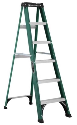 8' Fiberglass Type II Step Ladder