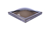 2'x2' Bronze Dome/Bronze Frame Skylight Curb Mount