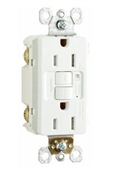GFCI Receptacle, 15A, White
