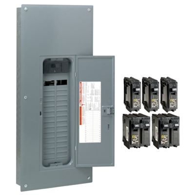 200 Amp 30-Space 60-Circuit Indoor Main Breaker Load Center with Cover - Value Pack