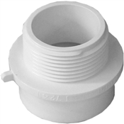 "1-1/2""x1-1/4"" PVC-DWV Fitting Adapter (Sp.xMIP)"
