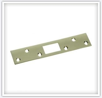 "1-1/4"" x 6"" Brass Plated Steel Security Strike"