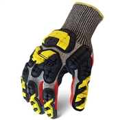 Ironclad Extra Large, Men's, Gray, Knit Cut 5 Oil & Gas Safety Impact Gloves