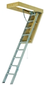 Southwest Moulding S-FTAA3010 Fire-Treated Attic Stair, 30-1/2 x 54 in Ceiling Opening, Aluminum