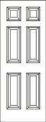 3068 Left Hand 6 Panel Smooth Fiberglass American Disability Association 4-9/16 No Rot Jamb Satin Nickel Hinge