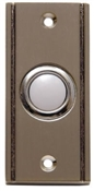 Lighted White And Brass Door Chime Button